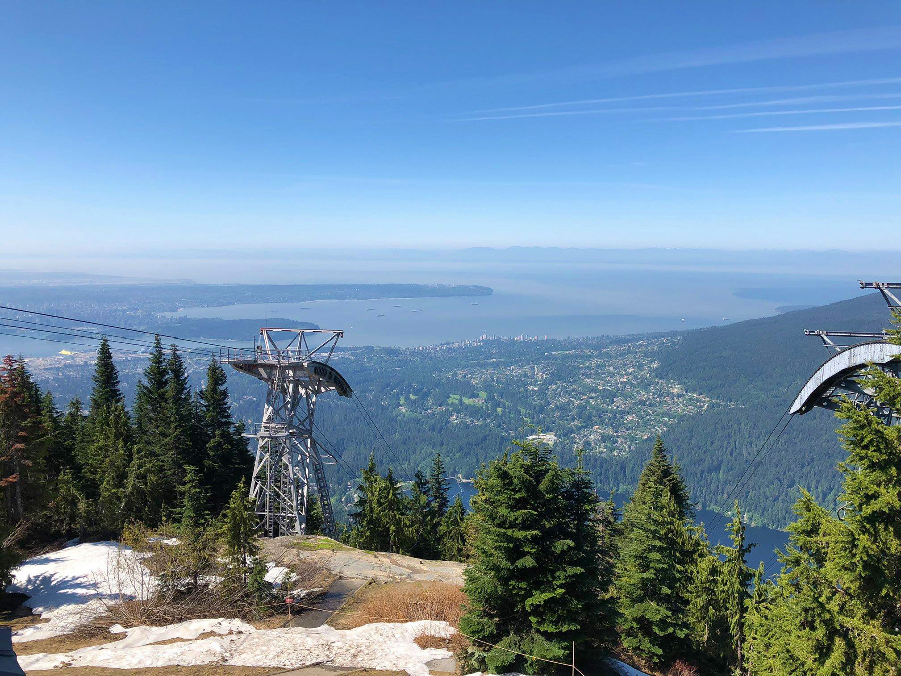 Aussicht von Vancouvers Grouse Mountain