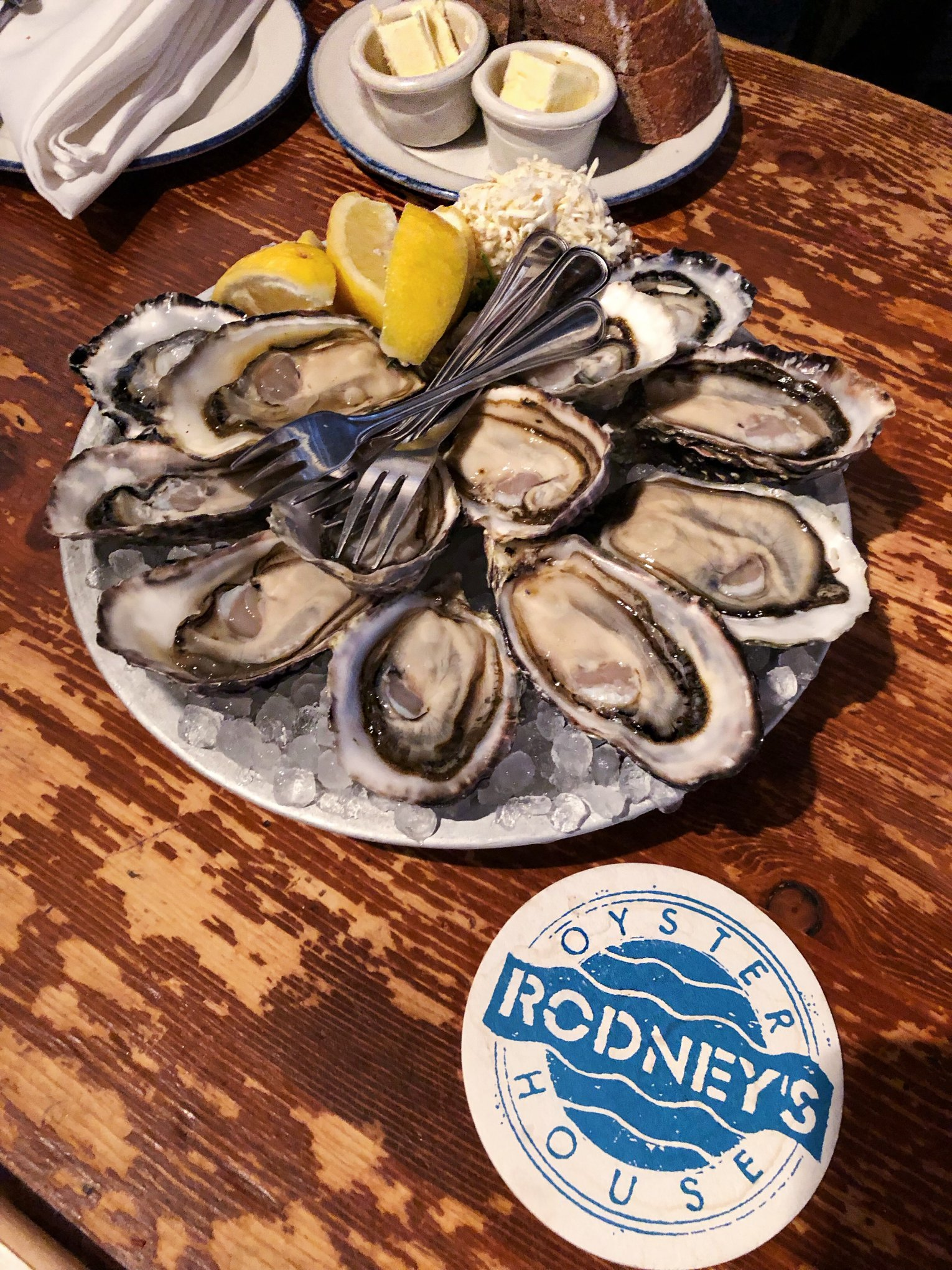 Austern in Rodney's Oyster House in Vancouver