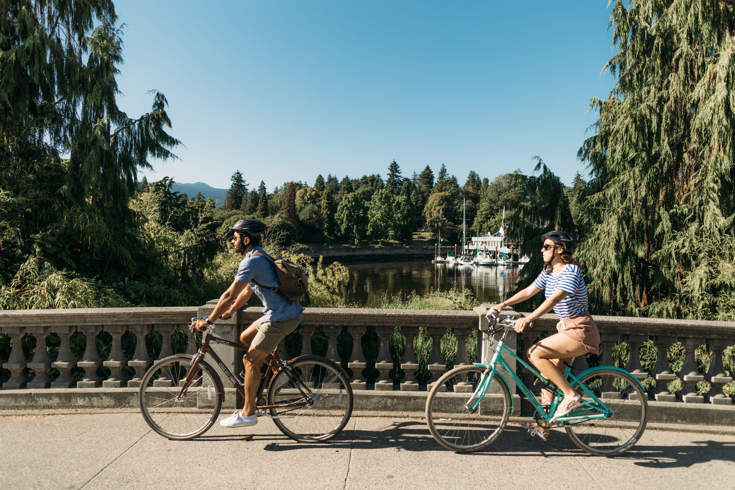 Radfahren im Stanley Park Vancouver